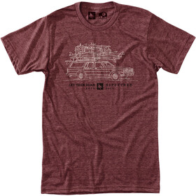 Hippy Tree Wagon T-shirt Heren, heather rust